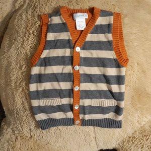 Grey orange and tan vest